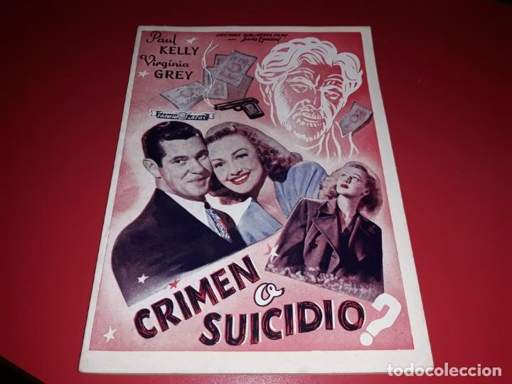 CRIMEN O SUICIDIO. ARGUMENTO NOVELADO PELICULA CON MUCHAS FOTOGRAFIAS 1947 (Cine - Foto-Films y Cine-Novelas)