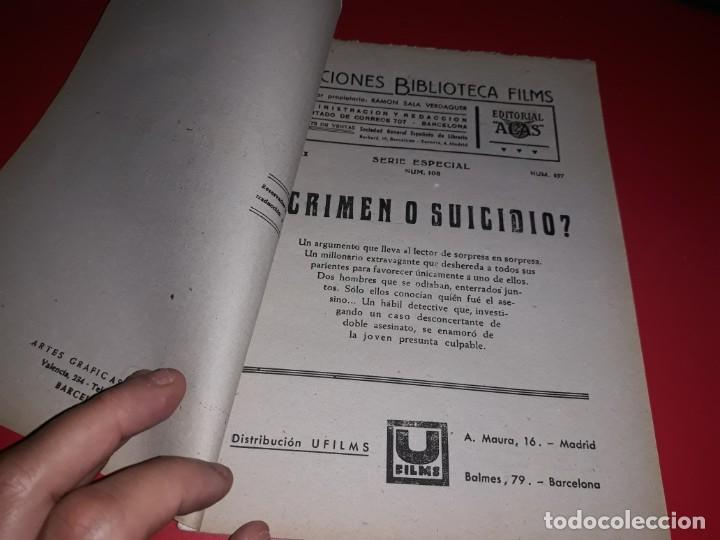 Cine: Crimen o Suicidio. Argumento Novelado Pelicula con muchas Fotografias 1947 - Foto 2 - 217818885
