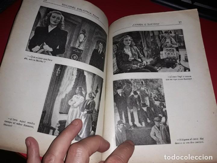 Cine: Crimen o Suicidio. Argumento Novelado Pelicula con muchas Fotografias 1947 - Foto 3 - 217818885