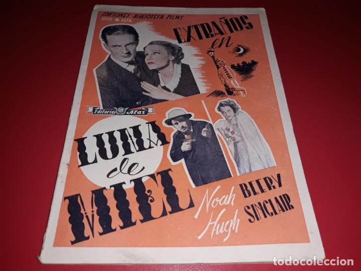 EXTRAÑOS EN LUNA DE MIEL. ARGUMENTO NOVELADOPELICULA CON MUCHAS FOTOGRAFIAS 1936 (Cine - Foto-Films y Cine-Novelas)