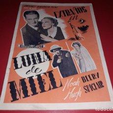 Cine: EXTRAÑOS EN LUNA DE MIEL. ARGUMENTO NOVELADOPELICULA CON MUCHAS FOTOGRAFIAS 1936. Lote 217819267