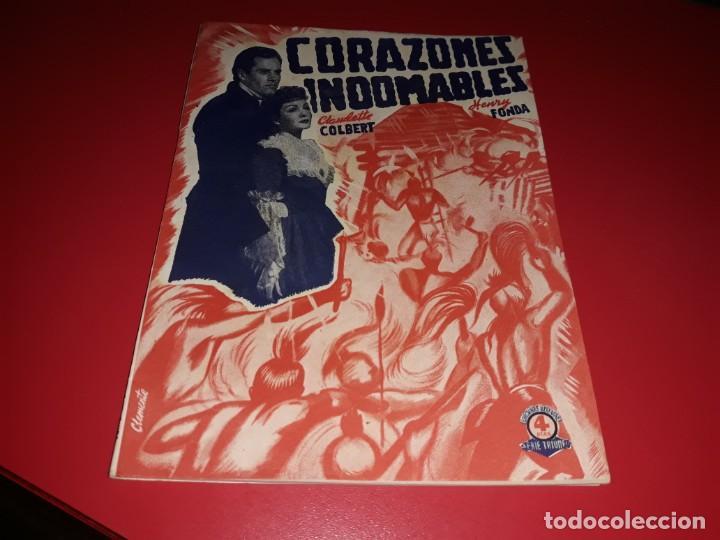 CORAZONES INDOMABLES CON HENRY FONDA. ARGUMENTO NOVELADO PELICULA CON MUCHAS FOTOGRAFIAS 1939 (Cine - Foto-Films y Cine-Novelas)