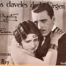 Cine: LOS CLAVELES DE LA VIRGEN - ORIGINAL Y DIRECCION FLORIAN REY - CON AUTOGRAFOS. Lote 217916513