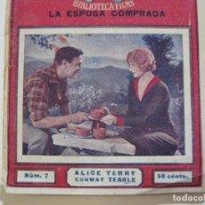 Cine: FILMS DE AMOR-LA ESPOSA COMPRADA-Nº 7-BIBLIOTECA FILMS-VER FOTOS-(K-508). Lote 218639983