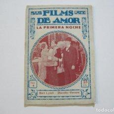 Cine: FILMS DE AMOR-LA PRIMERA NOCHE-Nº 4-BIBLIOTECA FILMS-VER FOTOS-(K-509). Lote 218640032