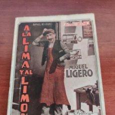 Cine: SELECCIÓN BIBLIOTECA FILMS A LA LIMA Y AL LIMÓN RAFAEL DE LEÓN CON MIGUEL LIGERO EDITORIAL ALAS. Lote 218779796