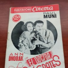Cine: PUBLICACIONES CINEMA NÚMERO 34 EL DOCTOR SOCRATES ANN DVORAK Y PAUL MUNI AÑOS 30. Lote 218798718