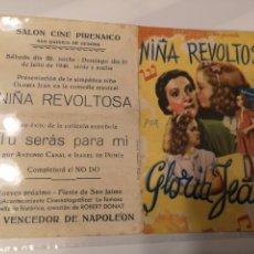 Cine: FO15. PROGRAMA DE CINE. NIÑA REVOLIOSA. GLORIA JEAN. Lote 221623572