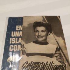 Cine: PO17. PROGRAMA DE CINE. EN UNA ISLA CON... ESTHER WILLIAMS. Lote 221623935