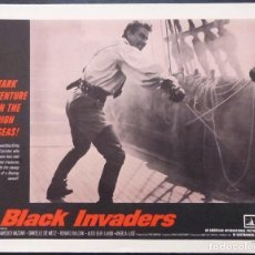 Cine: TARJETA DE VESTÍBULO DE BLACK INVADERS, AÑO 1962, FRANCO MONTEMURRO -4. Lote 222834181