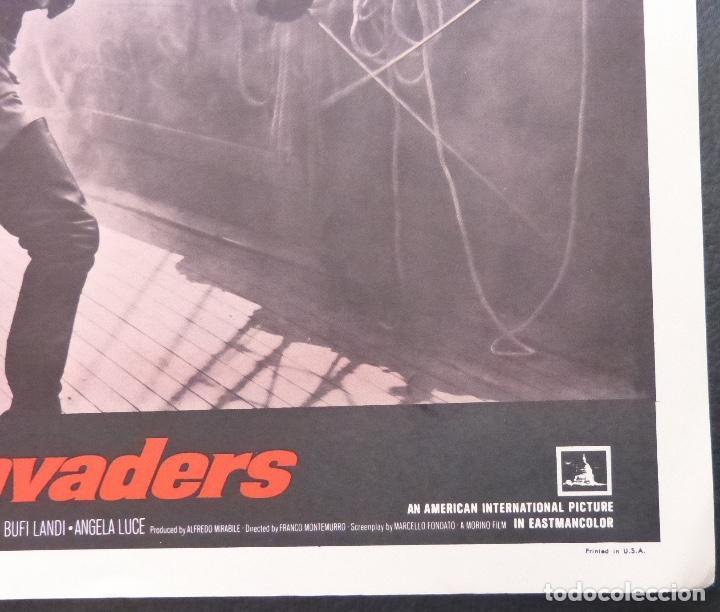 Cine: Tarjeta de vestíbulo de Black Invaders, año 1962, Franco Montemurro -4 - Foto 3 - 222834181