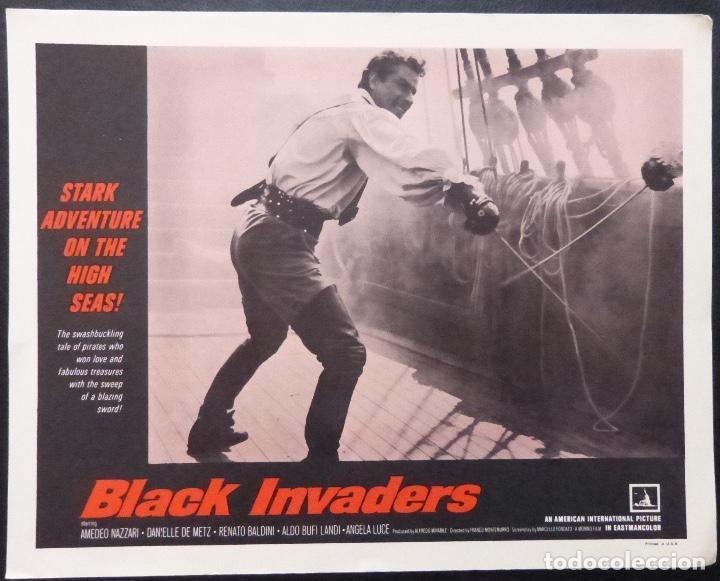 Cine: Tarjeta de vestíbulo de Black Invaders, año 1962, Franco Montemurro -4 - Foto 5 - 222834181