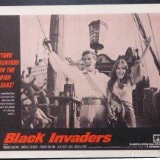 Cine: TARJETA DE VESTÍBULO DE BLACK INVADERS ORIG, AÑO 1962, AMEDEO NAZZARI, DANIELLE DE METZ -7. Lote 222837961