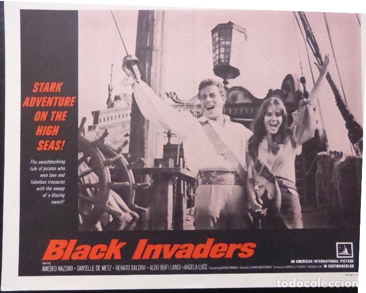 Cine: Tarjeta de vestíbulo de Black Invaders Orig, año 1962, Amedeo Nazzari, Danielle De Metz -7 - Foto 2 - 222837961