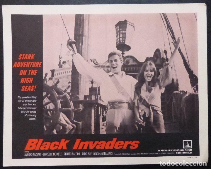 Cine: Tarjeta de vestíbulo de Black Invaders Orig, año 1962, Amedeo Nazzari, Danielle De Metz -7 - Foto 4 - 222837961