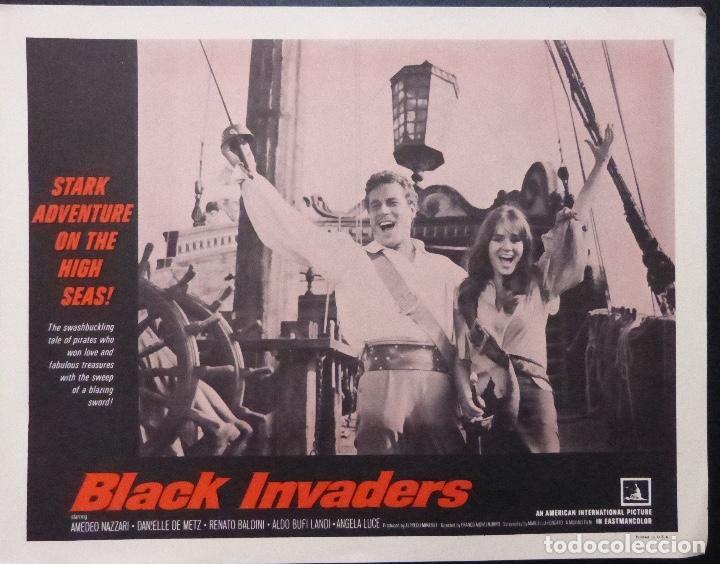 Cine: Tarjeta de vestíbulo de Black Invaders Orig, año 1962, Amedeo Nazzari, Danielle De Metz -7 - Foto 5 - 222837961