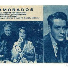 Cinema: ENAMORADOS, CON JEANETTE MACDONALD. FICHA Nº105.. Lote 231531120