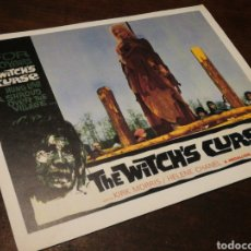 Cine: FOTO FILM THE WITCH'S CURSE- KIRK MORRIS, HELENE CHANEL, 1962. 29'5X23'5CM.. Lote 234532045