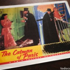 Cine: FOTO FILM THE CATMAN OF PARIS, 1946. 29'5X23'5CM.. Lote 236314125