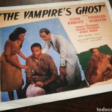 Cine: FOTO FILM THE VAMPIRE'S GHOST, 1945. 29'5X23'5CM.. Lote 236317225