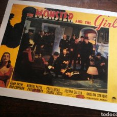 Cine: FOTO FILM THE MONSTER AND THE GIRL, 1940. 29'5X23'5CM.. Lote 236329305