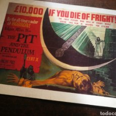 Cine: FOTO FILM THE PIT AND THE PENDULUM (10000 I-F YOU DIE OF FRIGHT!). 30X21'5CM.. Lote 236332190