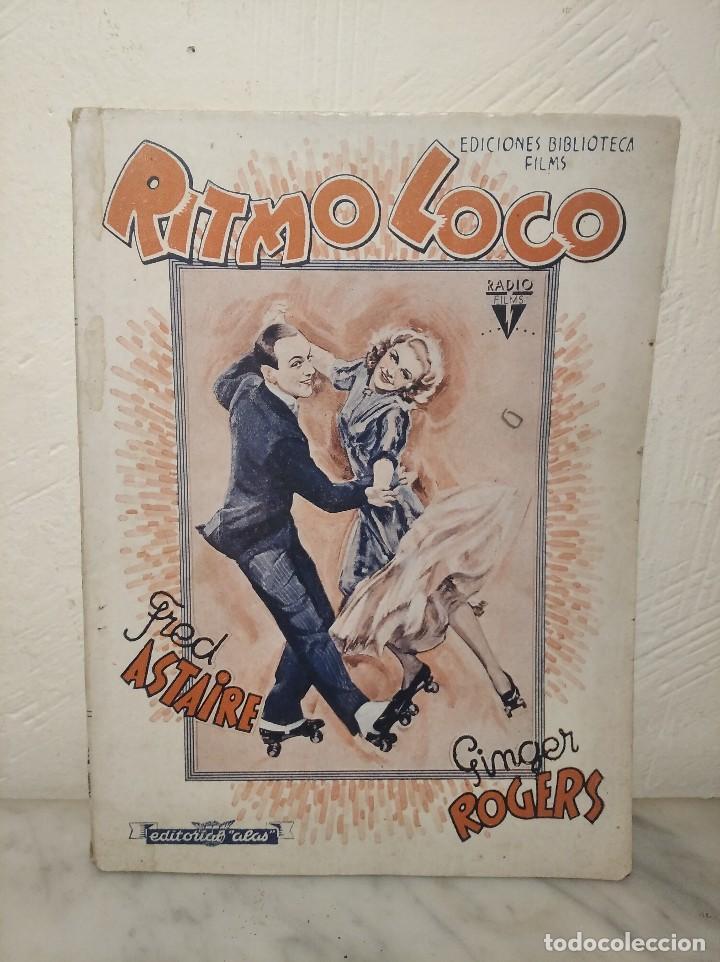 RITMO LOCO Nº 265 (EDITORIAL ALAS) BIBLIOTECA FILMS - FRED ASTAIRE Y GINGER ROGERS - AÑOS 30 (Cine - Foto-Films y Cine-Novelas)
