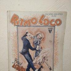 Cine: RITMO LOCO Nº 265 (EDITORIAL ALAS) BIBLIOTECA FILMS - FRED ASTAIRE Y GINGER ROGERS - AÑOS 30. Lote 236431890