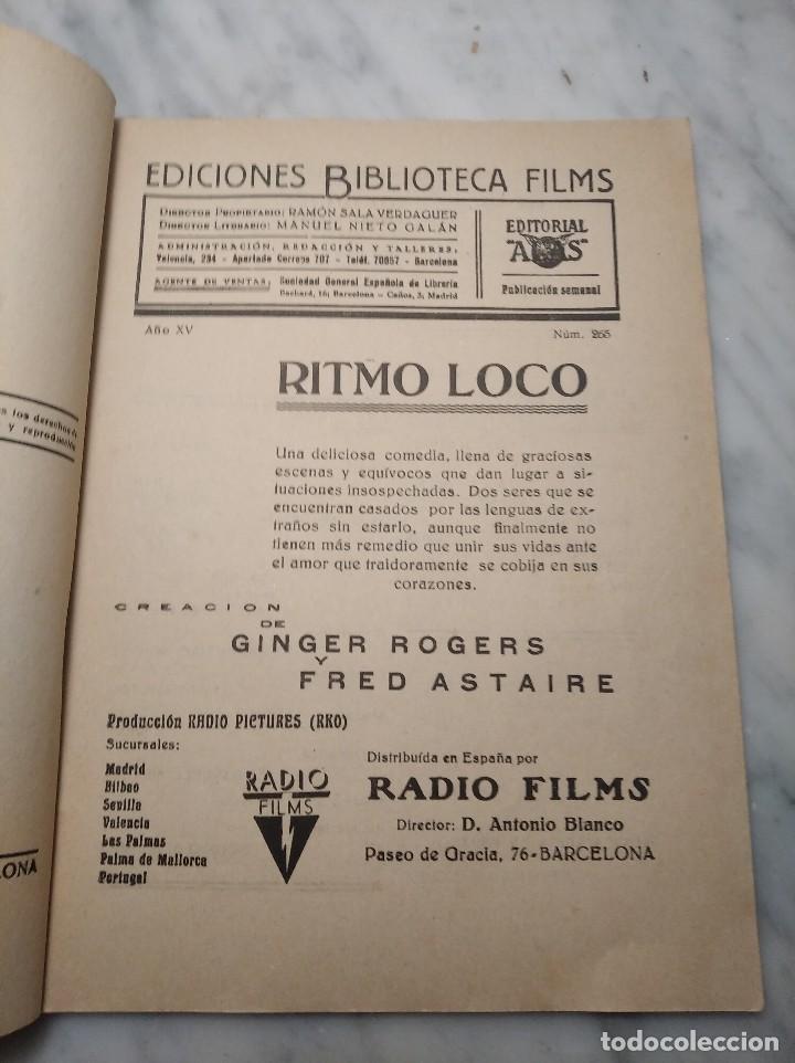 Cine: RITMO LOCO Nº 265 (EDITORIAL ALAS) BIBLIOTECA FILMS - FRED ASTAIRE Y GINGER ROGERS - AÑOS 30 - Foto 6 - 236431890