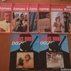 Cine: LOTE DE 5 TEBEOS (BURULAN) Y 2 FASCICULOS (PLANETA AGOSTINI) DE 007 JAMES BOND. Lote 237582100