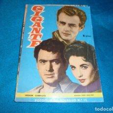 Cine: FOTO-FILM DE BOLSILLO Nº 11 : GIGANTE. EDT. MANDOLINA, 1959. Lote 241274815