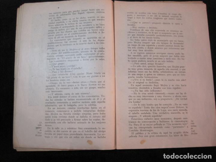Cine: JOSE MOJICA-LA VIDA INTIMA-AÑO 1931-CON FOTOS-EDICIONES EL CINE-VER FOTOS-(K-1926) - Foto 11 - 243872025