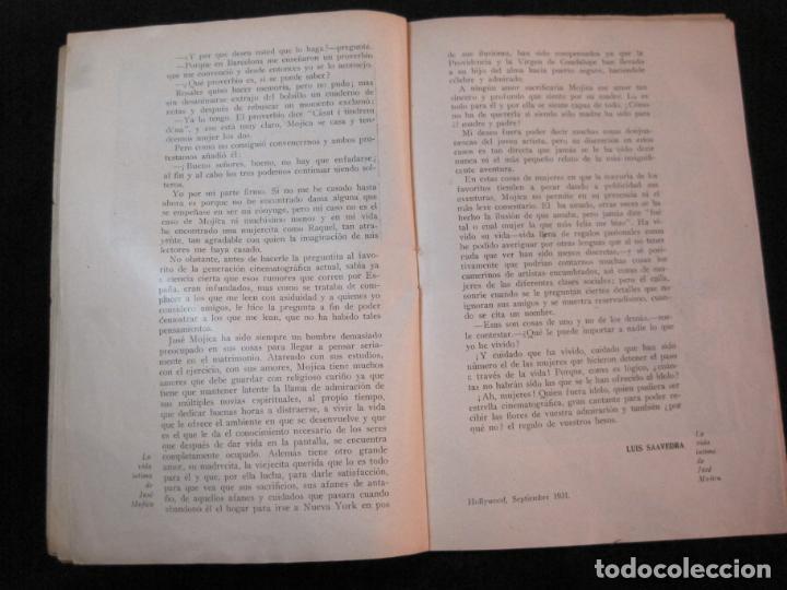 Cine: JOSE MOJICA-LA VIDA INTIMA-AÑO 1931-CON FOTOS-EDICIONES EL CINE-VER FOTOS-(K-1926) - Foto 14 - 243872025