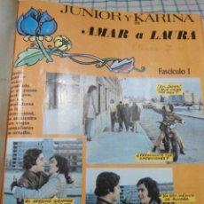 Cine: FOTONOVELA COMPLETA Y ENCUADERNADA, AMAR A LAURA. CON JUNIOR Y KARINA. Lote 247784660