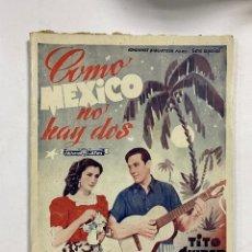 Cinema: COMO MEXICO NO HAY DOS. Nº 375. EDITORIAL ALAS. EDICIONES BIBLIOTECA FILMS. SERIE ESPECIAL. Lote 248662990