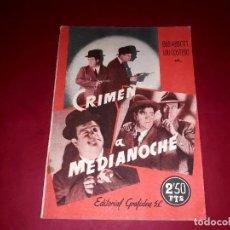 Cine: CRIMEN A MEDIANOCHE ARGUMENTO NOVELADO DE LA PELÍCULA CON FOTOGRAFÍAS. Lote 248781015