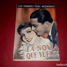 Cine: LA NOVIA QUE VUELVE ARGUMENTO NOVELADO DE LA PELÍCULA CON FOTOGRAFÍAS. Lote 248788725