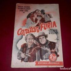 Cine: CAPITÁN FURIA ARGUMENTO NOVELADO DE LA PELÍCULA CON FOTOGRAFÍAS. Lote 248792185