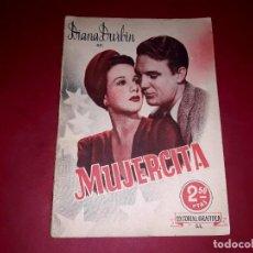 Cine: MUJERCITA CON DIANA DURBIN ARGUMENTO NOVELADO DE LA PELÍCULA CON FOTOGRAFÍAS. Lote 248793825