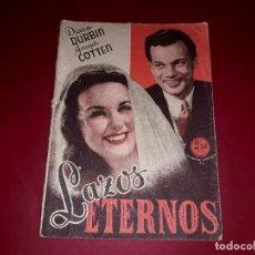 Cine: LAZOS ETERNOS CON DIANA DURBIN ARGUMENTO NOVELADO DE LA PELÍCULA. Lote 248795025