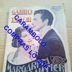 Cinéma: MARGARITA GAUTIER EDITORIAL ALAS GRETA GARBO ROBERT TAYLOR U35. Lote 251086880
