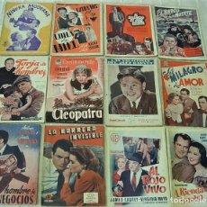 Cine: LOTE DE 12 NOVELAS CINE 1940S/1950S EDICIONES BISTAGNE EDITORIAL ALAS MUY BUEN ESTADO !!. Lote 253606465