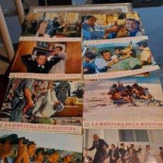 Cine: LOTE 8 FOTO FILMS DE LA AVENTURA ES LA AVENTURA ( CLAUDE LELOUCH, LINO VENTURA, JACQUES BREL ). Lote 261297165