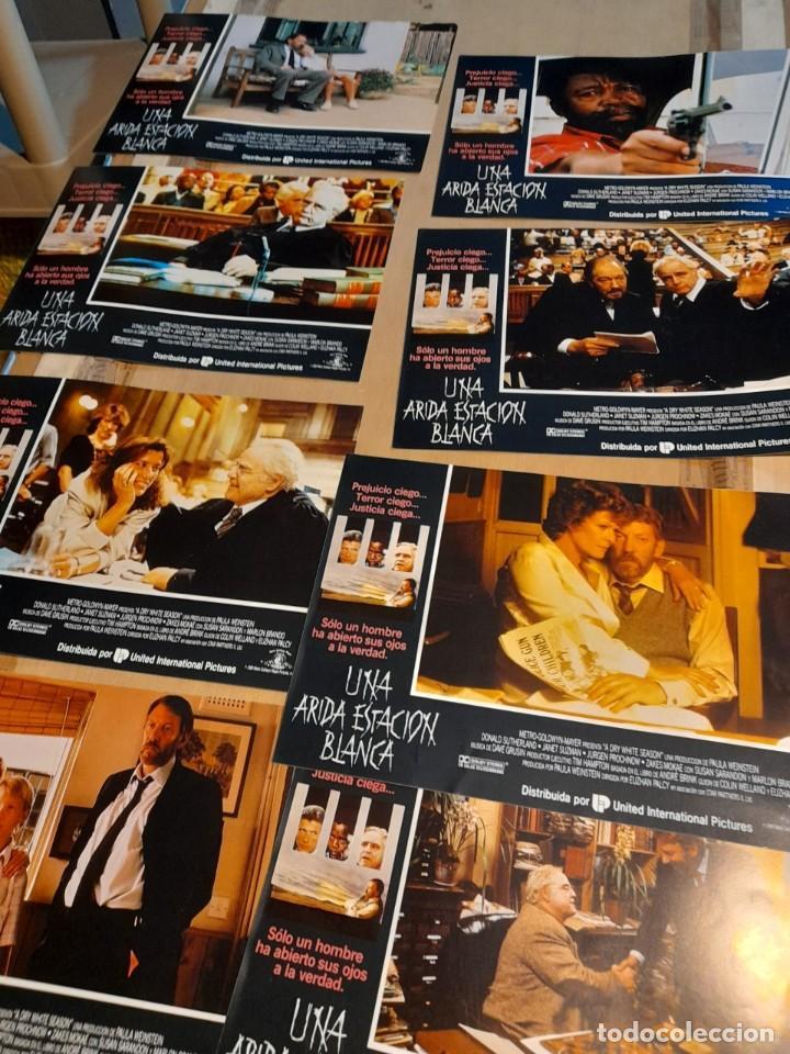 LOTE 8 FOTO FILMS DE UNA ARIDA ESTACION BLANCA ( DONALD SUTHELAND + MARLON BRANDO ) (Cine - Foto-Films y Cine-Novelas)