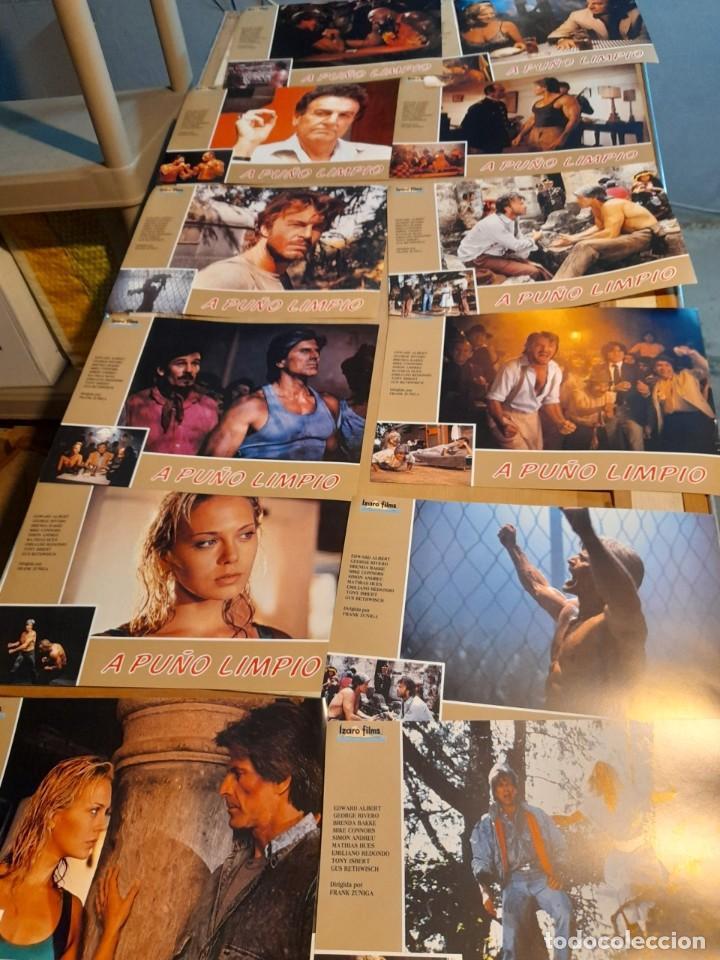 LOTE 12 FOTO FILMS DE A PUÑO LIMPIO ( JORGE RIVERO, MIKE CONNORS, EDWARD ALBERT ) (Cine - Foto-Films y Cine-Novelas)