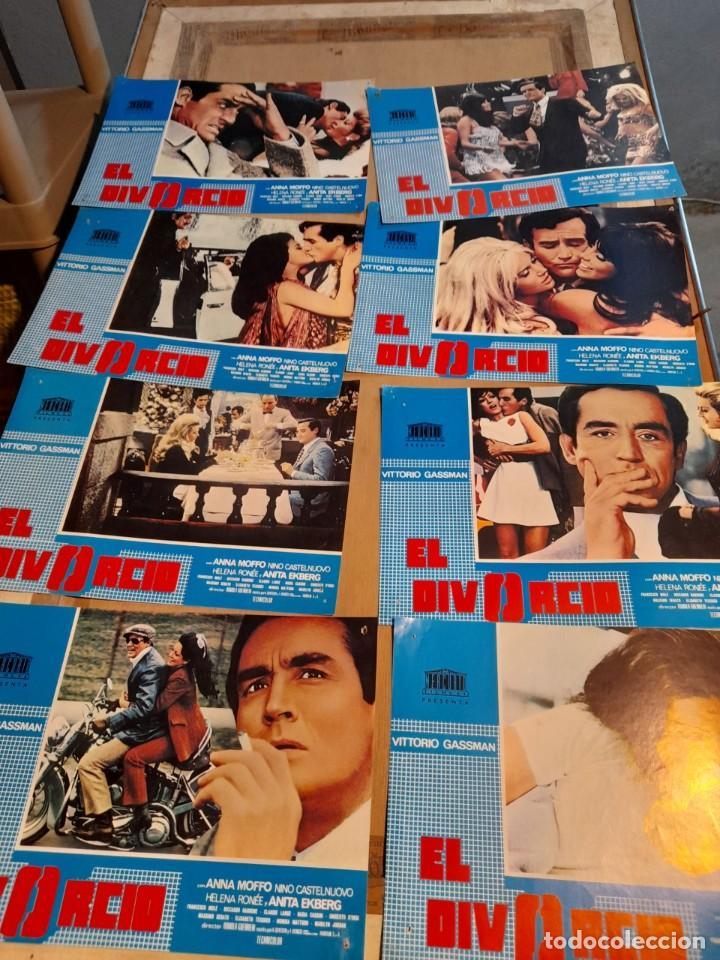 LOTE 8 FOTO FILMS DE EL DIVORCIO ( VITTORIO GASSMAN ) (Cine - Foto-Films y Cine-Novelas)