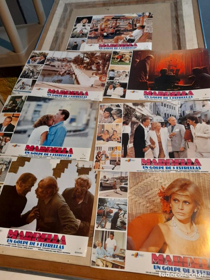 LOTE 7 FOTO FILMS DE MARBELLA ( ROD TAYLOR, BRITT EKLAND, FERNANDO FERNAN GOMEZ, PACO RABAL ) (Cine - Foto-Films y Cine-Novelas)