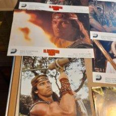 Cine: LOTE 7 CARTELES FILM : EL GUERRERO ROJO ( ARNOLD SCHWARZENEGGER, BRIGITTE NIELSEN ). Lote 265963693
