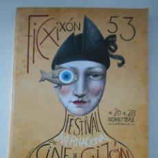 Cine: FIC XIXON 53. FESTIVAL INTERNACIONAL DE CINE DE GIJON. 226 PAGINAS. 700 GRAMOS. Lote 266229768