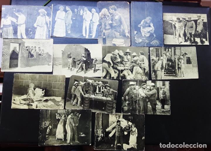 14 FOTOCROMOS, LIBERTAD, CINE MUDO, MARIA WALCAMP Y POLO, CHOCOLATES PI (Cine - Foto-Films y Cine-Novelas)